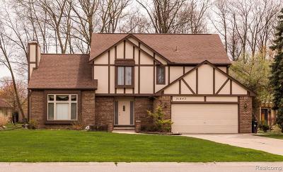 Farmington Hill Single Family Home For Sale: 31843 Bristol Ln