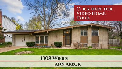 Ann Arbor Single Family Home Contingent - Financing: 1308 Wines Dr