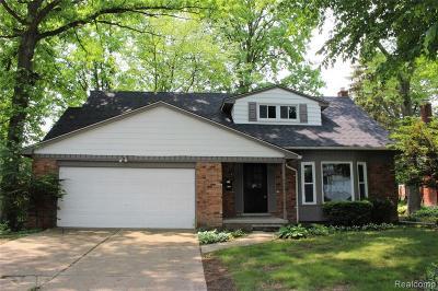 Southfield Single Family Home For Sale: 27505 Berkshire
