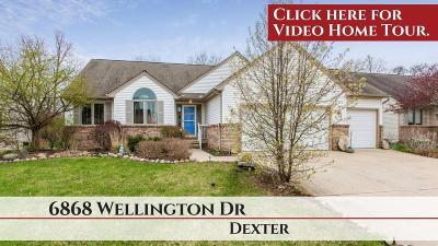Dexter Single Family Home For Sale: 6868 Wellington Dr