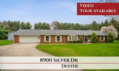 Dexter Single Family Home For Sale: 8900 Silver Dr