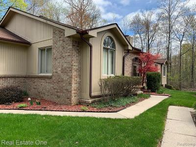 West Bloomfield Condo/Townhouse For Sale: 7451 Indianwoood Trail