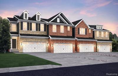 Novi Condo/Townhouse For Sale: 43489 Chancellor Ln