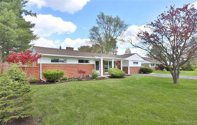 Novi Single Family Home For Sale: 23800 Meadowbrook Rd