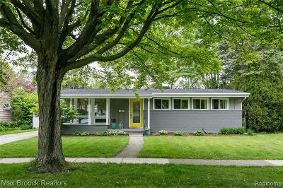 Ann Arbor Single Family Home For Sale: 2710 Radcliffe Ave