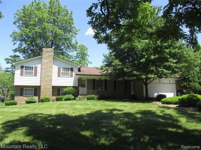 Single Family Home For Sale: 8380 Elizabeth Lake Rd