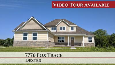 Dexter Single Family Home For Sale: 7776 Fox Trace Rd
