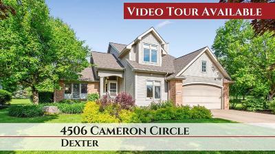 Dexter Single Family Home For Sale: 4506 Cameron Cir