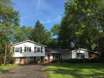 Farmington Hill Single Family Home For Sale: 28745 Kirkside Ln