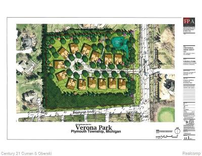 Plymouth Single Family Home For Sale: 47462 Verona Lot 3 Crt