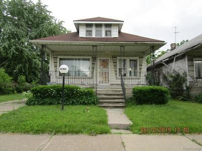 Single Family Home For Sale: 6765 Floyd St