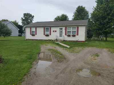 Lenawee County Single Family Home Contingent - Financing: 586 N County Line