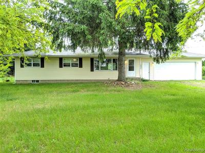 Grass Lake Single Family Home For Sale: 3501 Fishville Rd
