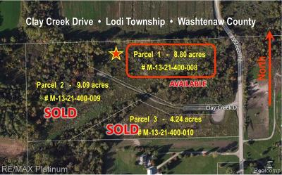 Residential Lots & Land For Sale: 1 Clay Creek Dr