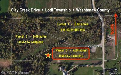Residential Lots & Land For Sale: 3 Clay Creek Dr