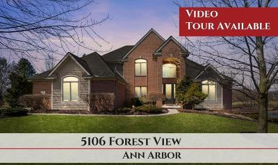 Washtenaw County Single Family Home For Sale: 5106 Forest View Ct