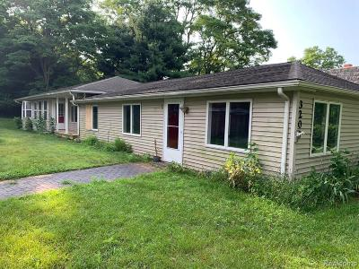 Chelsea Single Family Home For Sale: 3200 McKinley Rd