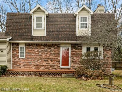 Lake Orion Single Family Home For Sale: 4455 Maybee Rd