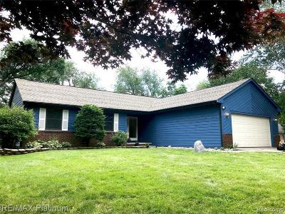 South Lyon Single Family Home For Sale: 180 Woodland Drive