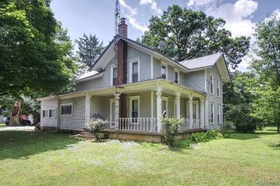 Hanover MI Single Family Home For Sale: $395,000