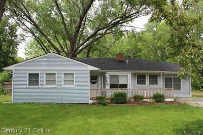 Plymouth Single Family Home For Sale: 41810 Five Mile Rd