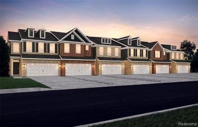 Novi Condo/Townhouse For Sale: 43646 Chancellor Ln