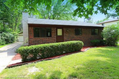 Farmington Hill Single Family Home For Sale: 28543 Grayfield Dr