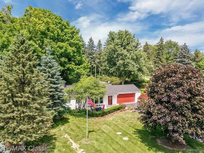 Plymouth Single Family Home For Sale: 47680 W Ann Arbor Trl