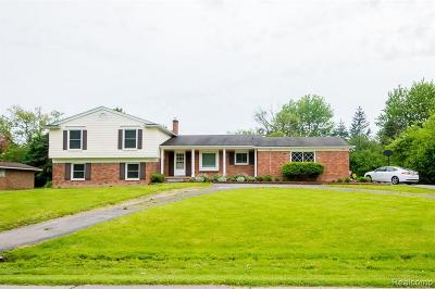 West Bloomfield Single Family Home For Sale: 6166 Wellesley Dr