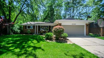 Ann Arbor Single Family Home For Sale: 2160 Steeplechase Dr