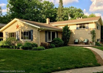Plymouth Single Family Home For Sale: 721 S Evergreen St