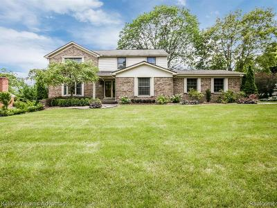 Plymouth Single Family Home For Sale: 12759 Portsmouth Crt
