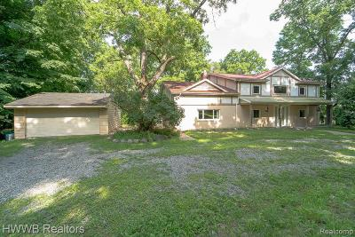 Farmington Hill Single Family Home For Sale: 25710 Power Rd