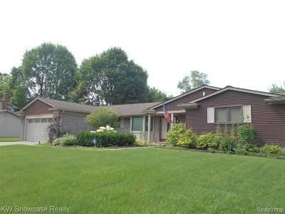 Farmington Hill Single Family Home For Sale: 31095 Berryhill St