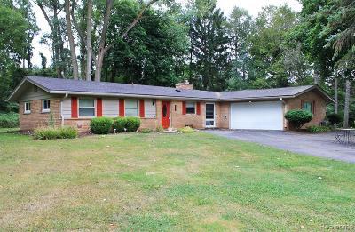 Northville Single Family Home For Sale: 43440 Cottisford St