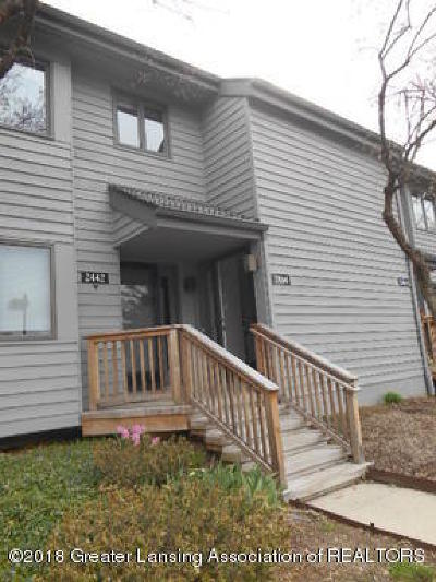 East Lansing Condo/Townhouse For Sale: 2444 Burcham Drive