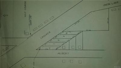 Clinton Township Residential Lots & Land For Sale: Albert/Crocker