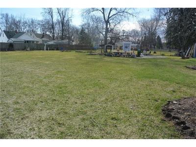 Royal Oak Residential Lots & Land For Sale: 1622 Ottawa (Parcel 2) Dr