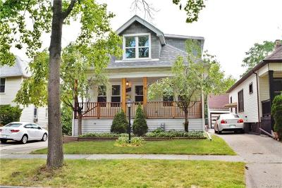 Grosse Pointe Park Single Family Home For Sale: 1429 Maryland St