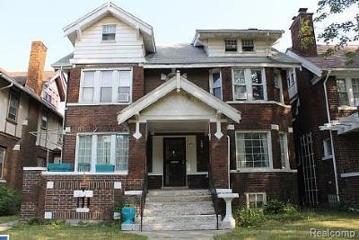 Detroit Single Family Home For Sale: 1444 Edison St