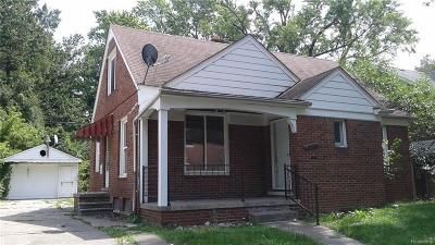 Detroit Single Family Home For Sale: 16524 West Brook St