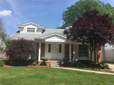 Detroit Single Family Home For Sale: 19666 Renfrew Rd