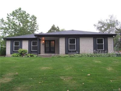 Troy Single Family Home For Sale: 4326 Cherrywood Dr