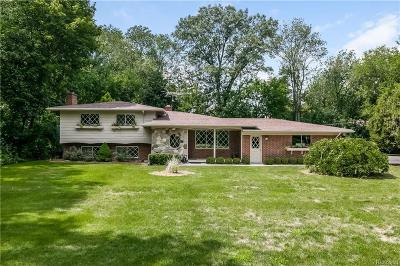 Bloomfield Hills Single Family Home For Sale: 6970 Wing Lake Rd