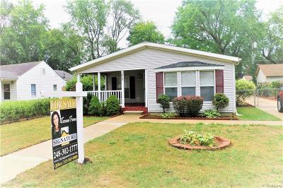 Westland Single Family Home For Sale: 34763 Glen St