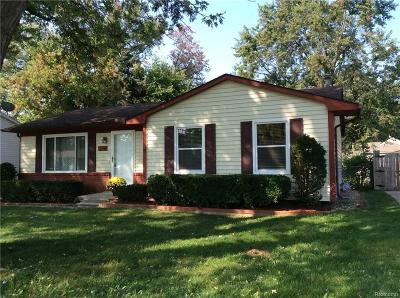 Troy Single Family Home For Sale: 3291 Frankton Dr