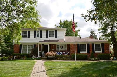 Livonia Single Family Home For Sale: 36907 Bennett St