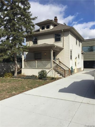 Royal Oak Single Family Home For Sale: 813 S Center St