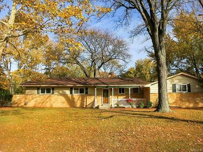 Farmington Hills Single Family Home For Sale: 28733 Lorikay St