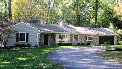 Bloomfield Hills Single Family Home For Sale: 6145 Idlewyle Rd